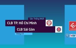 VIDEO Tổng hợp diễn biến CLB TP Hồ Chí Minh 5-0 CLB Sài Gòn (Vòng 23 Nuti Café V.League 2018)