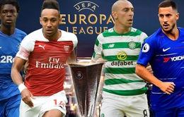 Lịch thi đấu lượt trận đầu tiên Europa League: Arsenal, Chelsea xuất trận