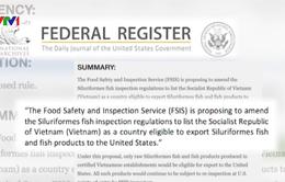 Đề xuất Việt Nam đạt tiêu chuẩn kiểm soát chất lượng cá da trơn của Mỹ