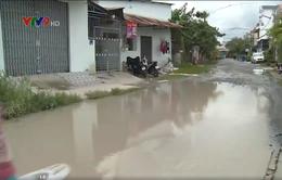 Cần Thơ: Đường biến thành sông sau cơn mưa