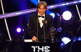 Đánh bại Ronaldo, Modric lần đầu đoạt giải FIFA The Best dành cho cầu thủ xuất sắc nhất
