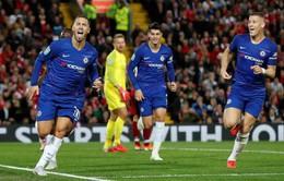 Hazard toả sáng, Chelsea hạ Liverpool ngay trên sân Anfield