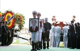 Người dân Ninh Bình đưa tiễn Chủ tịch nước Trần Đại Quang