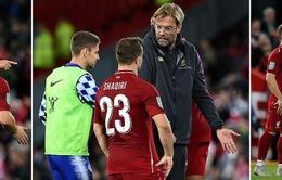HLV Klopp phân trần về màn quát vào mặt Shaqiri sau trận thua Chelsea