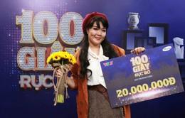 """Âu Bảo Ngân đánh bại cặp học trò cưng của Khánh Thi - Phan Hiển ở """"100 giây rực rỡ"""""""