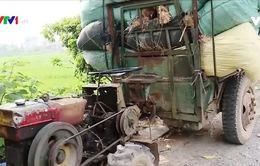 Khó dẹp nạn xe quá tải ở khu vực ngoại thành Hà Nội