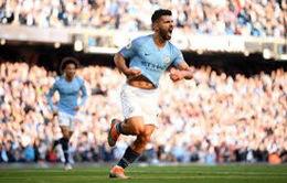 Man City có thể mất Aguero ở trận gặp Liverpool