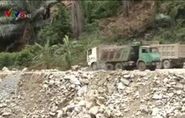 Khai thác đá làm thủy điện, lấp suối đầu nguồn ở Quảng Nam