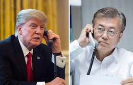 Lãnh đạo Mỹ - Hàn Quốc điện đàm về vấn đề Triều Tiên