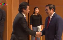 Đồng chí Phạm Minh Chính tiếp Bộ Trưởng Phụ trách chính sách biển, Văn phòng Nội các Nhật Bản