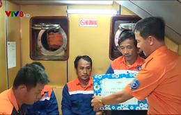 Cứu nạn thành công tàu cá Bình Định cùng 15 thuyền viên