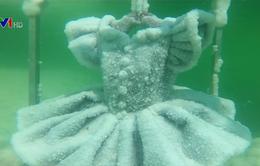 Những đồ vật phủ muối nhờ ngâm dưới Biển Chết