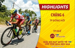 HIGHLIGHTS Chặng 6 Giải xe đạp quốc tế VTV Cup Tôn Hoa Sen 2018