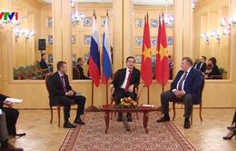 Trưởng ban Kinh tế Nguyễn Văn Bình tiếp Chủ tịch hai ngân hàng Nga