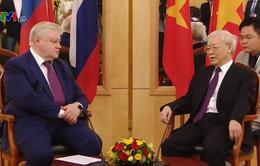 Tổng Bí thư Nguyễn Phú Trọng tiếp Chủ tịch Đảng nước Nga công bằng