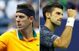 Trước trận chung kết đơn nam giải quần vợt Mỹ mở rộng 2018: Djokovic chiếm ưu thế về chỉ số trước Del Potro