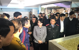 Bộ trưởng Bộ Y tế thị sát an toàn thực phẩm trước Tết Nguyên đán