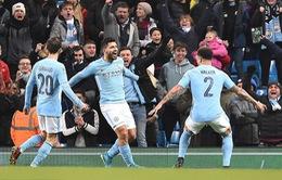 Kết quả bóng đá sáng 10/1: Aguero giúp Man City giành chiến thắng phút cuối