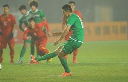 VIDEO: Aymen Hussein ghi bàn trên chấm 11m vào lưới U23 Việt Nam, gỡ hoà cho U23 Iraq