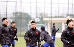 U23 Việt Nam trở lại tập luyện hứng khởi sau trận giao hữu với U23 Palestine