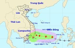Áp thấp nhiệt đới đã mạnh lên thành bão Bolaven (bão số 1 năm 2018)