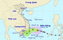Trong 12 giờ tới, bão số 1 sẽ suy yếu thành áp thấp nhiệt đới