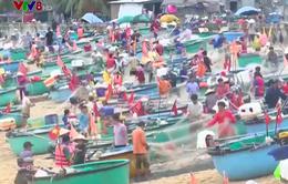 Độc đáo làng thuyền thúng tại miền Trung