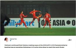 """Fox Sports châu Á gọi U23 Việt Nam là """"người tạo nên lịch sử"""""""
