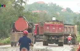 Nguy cơ  tai nạn giao thông do vật liệu rơi từ các xe tải