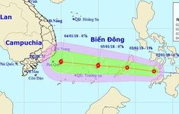 Biển Đông có thể sẽ xuất hiện bão trong những ngày đầu năm 2018
