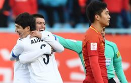 Kết quả, BXH bảng A sau lượt trận thứ 2 VCK U23 châu Á 2018