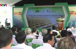 Khởi công nhà máy điện mặt trời đầu tiên ở Ninh Thuận
