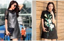 Học các sao mặc váy suông đẹp trong mùa Đông