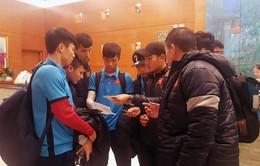 U23 Việt Nam đến Thường Thục, sẵn sàng cho trận gặp U23 Syria