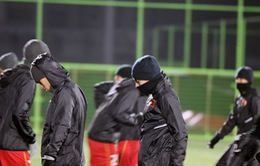 U23 Việt Nam luyện tập dưới cái lạnh 0 độ C tại Côn Sơn, Trung Quốc