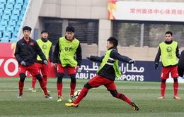 U23 Việt Nam luyện quân trên sân chính, sẵn sàng cho trận bán kết gặp U23 Qatar