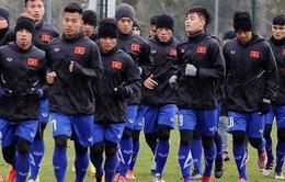 14h00 hôm nay (4/1), U23 Việt Nam – U23 Palestine: Tổng duyệt trước VCK U23 châu Á 2018