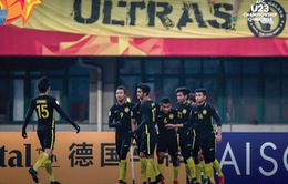 VCK U23 châu Á, U23 Malaysia 1-1 U23 Jordan: Chia điểm bất ngờ!