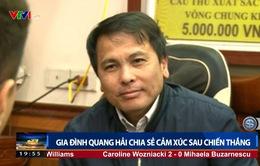 Gia đình Quang Hải chia sẻ cảm xúc sau chiến thắng