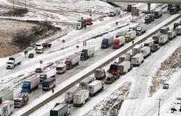 Tây Ban Nha ách tắc giao thông vì băng tuyết