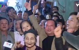Hân hoan không khí mừng chiến thắng ở quê nhà của thủ môn tuyển U23 Việt Nam