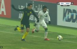 TRỰC TIẾP BÓNG ĐÁ U23 châu Á 2018, U23 Ả-rập Xê-út 0-0 U23 Malaysia: Hiệp 1