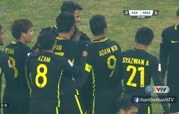 TRỰC TIẾP BÓNG ĐÁ U23 châu Á 2018, U23 Ả-rập Xê-út 0-1 U23 Malaysia: Muhammad Danial bất ngờ mở tỉ số trận đấu