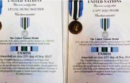 Liên Hợp Quốc trao Huân chương Hòa bình cho 2 sỹ quan Việt Nam