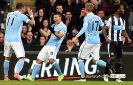 TRỰC TIẾP BÓNG ĐÁ Ngoại hạng Anh: Man City 1-0 Newcastle (Hết H1)