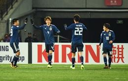 TRỰC TIẾP BÓNG ĐÁ U23 châu Á 2018, U23 Nhật Bản 1-0 U23 CHDCND Triều Tiên: T.Yanagi ghi bàn may mắn (Hiệp một)