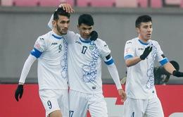 TRỰC TIẾP BÓNG ĐÁ Bán kết U23 châu Á 2018, U23 Uzbekistan 1 - 0 U23 Hàn Quốc: Kết thúc hiệp 1