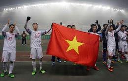 U23 Việt Nam hát cùng các CĐV sau kỳ tích lịch sử