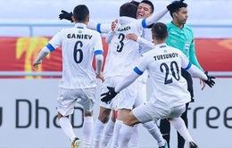 Lịch thi đấu và trực tiếp bóng đá tứ kết U23 châu Á 2018, ngày 19/01: U23 Nhật Bản - U23 Uzbekistan, U23 Qatar - U23 Palestine
