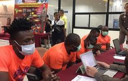 Thái Lan bắt 5 công dân châu Phi dùng thị thực giả